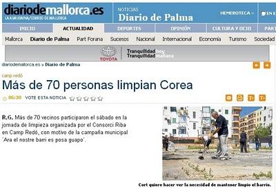 Noticia apareguda al Diario de Mallorca